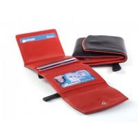 Ultra Mini Wallet Black w/Red
